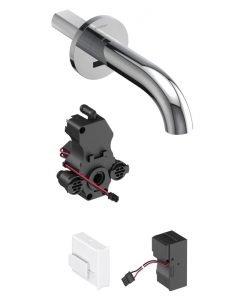 Смесител за умивалник с фотоклетка и вградено управление стенен GEBERIT PIAVE 116.261.21.1