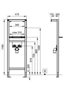 Структура за вграждане на умивалник ECO SOLUTION WQ1Q00400000002