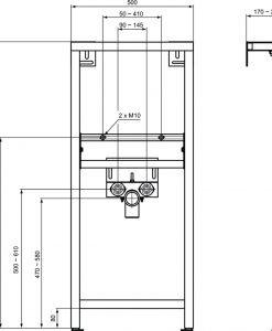 Структура за вграждане на умивалник IDEAL STANDARD W589867