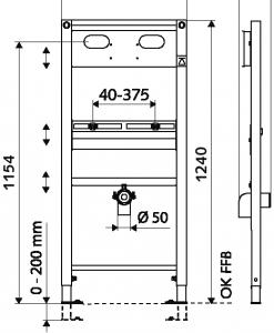 Структура за вграждане на умивалник SCHELL MONTUS 030880099