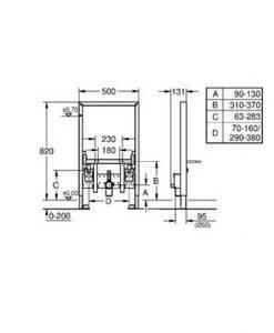 Структура за вгражданена биде RAPID SL 38543000