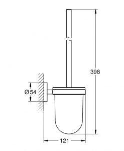 Четка за тоалетна Grohe Essentials 40374GL1