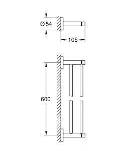Двойна поставка за хавлия Grohe Essentials 40802GL1