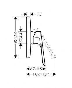Едноръкохватков смесител за душ Hansgrohe Logis E 71603000
