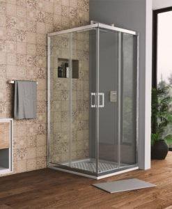 Квадратна душ кабина Bella S прозрачно стъкло 120