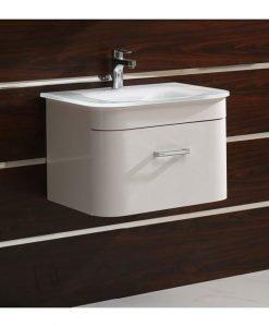 PVC шкаф за баня 6064 със стъклен умивалник