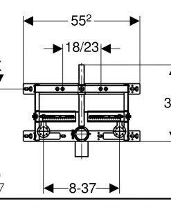Структура за вграждане за биде Geberit Kombifix 457.893.00.1
