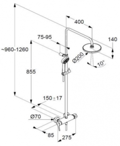 Душ система KLUDI LOGO 6808505-00