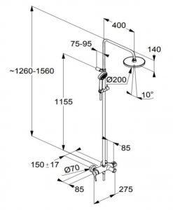 Душ система с чучур KLUDI LOGO 6808305-00