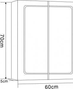 Горен огледален шкаф за баня ДЕСПИНА модел 7013LED