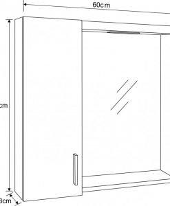 Горен огледален шкаф за баня модел 103-60