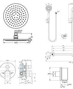 Комплект за вграждане Ideal Standard Ceraflex BC447AA