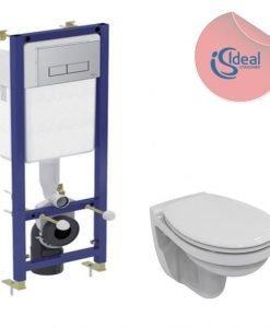 Конзолна тоалетна Ulysse и структура за вграждане Ideal Standard