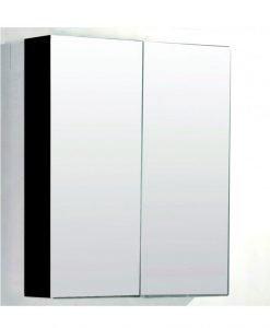 Огледален черен PVC шкаф за баня 7013