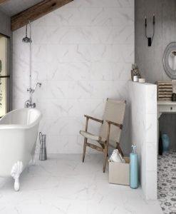 Плочки за баня UNDEFASA модел THASSOS BLANCO 20*60