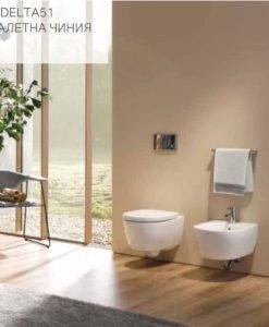Промопакет GEBERIT DUOFIX DELTA 51 и окачена тоалетна ICON
