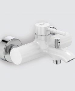 Смесител за вана/душ цвят бял Ideal Standard Kolva BC675U5