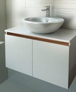 PVC шкаф за баня две вратички TULIP 80