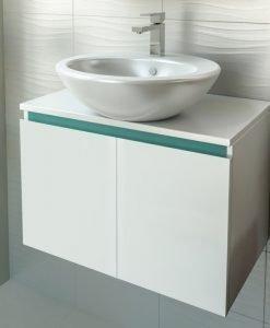 PVC шкаф за баня две вратички TULIP 65