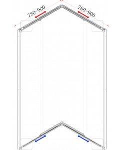 Душ кабина модел 789 TR прозрачно стъкло