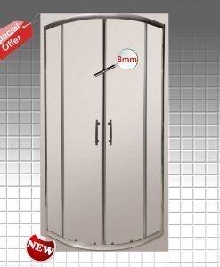 Овална душ кабина Селина 90*90 комплект с овален поддушов профил
