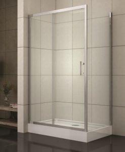Правоъгълна душ кабина модел 1507 матирано стъкло 100*80