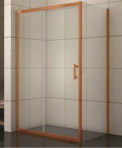 Правоъгълна душ кабина модел 1505BR розово злато 100*80