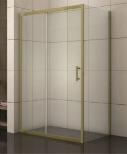 Правоъгълна душ кабина модел 1506G профил злато 120*80