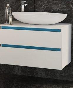 PVC шкаф с мивка и две чекмеджета Omnia 80см.