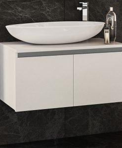 PVC шкаф с мивка и две вратички Omnia 80см.