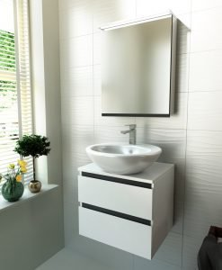 PVC шкаф за баня две чекмеджета TULIP 50
