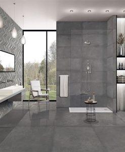 Плочки за баня серия Cromat One Carbon Idero 25*75