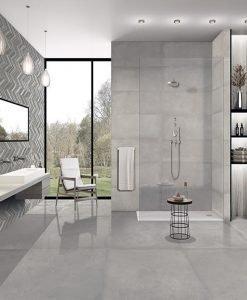 Плочки за баня серия Cromat One Grey Idero 25*75