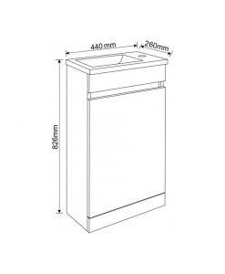 Компактен PVC мебел за баня Илина 4325