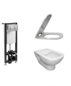 Комплект структура за вграждане Eco Compact 4*1 с тоалетна Rimless Emilia