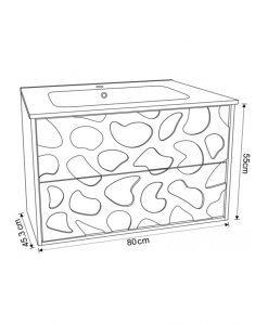Мебел за баня 8045