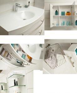 PVC мебел за баня 105360W