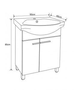PVC мебел за баня 7055