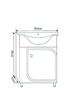 PVC мебел за баня Марчело 5539