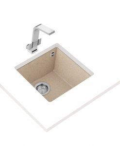 Гранитна мивка за кухня Teka Maestro SQUARE 40.40 TG БЕЖОВА
