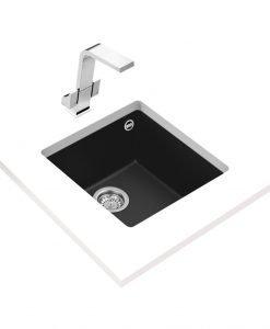 Гранитна мивка за кухня Teka Maestro SQUARE 40.40 TG ЧЕРНА