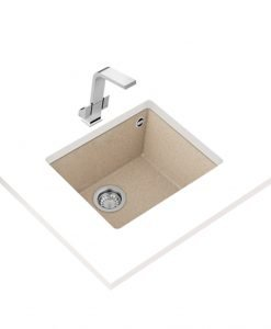 Гранитна мивка за кухня Teka Maestro SQUARE 50.40 TG БЕЖОВА
