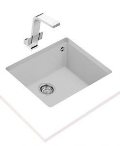 Гранитна мивка за кухня Teka Maestro SQUARE 50.40 TG БЯЛА