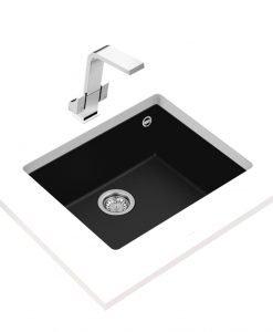 Гранитна мивка за кухня Teka Maestro SQUARE 50.40 TG ЧЕРНА