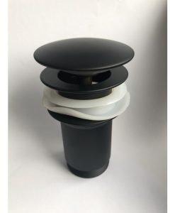 Клик сифон за мивка черен мат IC S706B