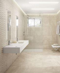 Плочки за баня серия Varana Almond Gayafores 32*62.5