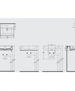 Порцеланов умивалник за монтаж върху плот 60см Isvea 10FS50060