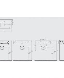 Порцеланов умивалник за монтаж върху плот 70см Isvea
