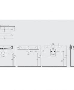 Порцеланов умивалник за монтаж върху плот 90см 10FS50090