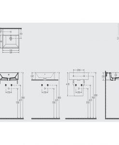 Порцеланов умивалник за монтаж върху плот 50см Isvea 10SF50051